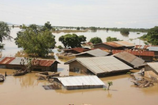 •A flooded Benue community