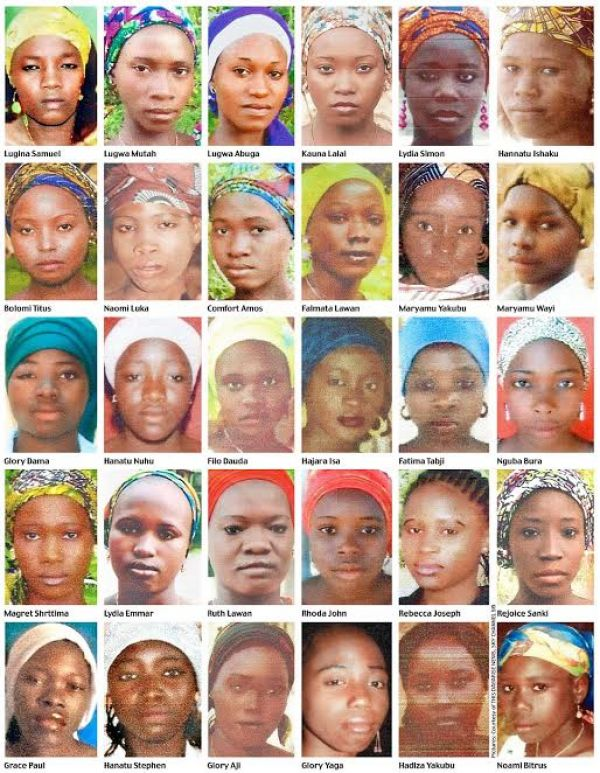 •Some of the abducted Chibok Girls.