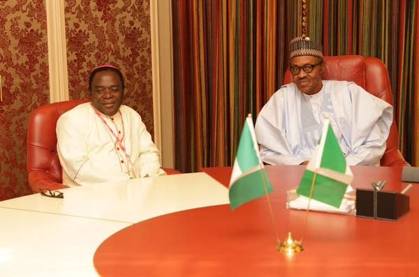 Bishop Kukah and President Buhari during one of their meetings