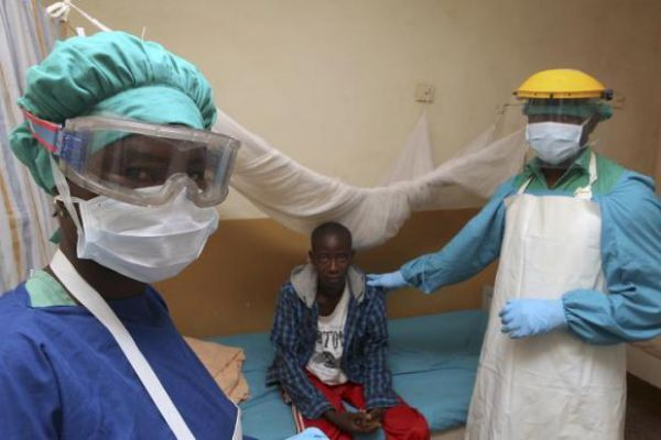 •Lassa fever patient receiving medical attention