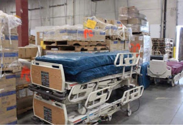 •A file photo of medical supplies from the United States