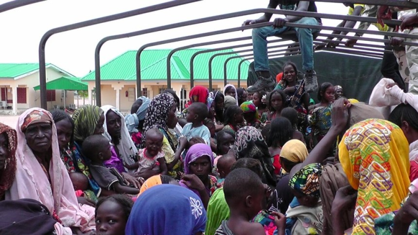 •A cross section of rescued Boko Haram hostages