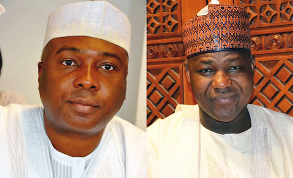 •Senate President Bukola Saraki and House Speaker Yakubu Dogara